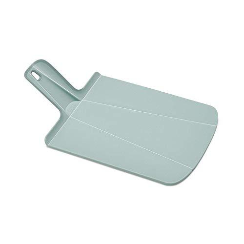Joseph Joseph Chop2Pot Foldable Plastic Cutting Board 15 x 8.75 Non-Slip Feet 4-inch Handle Dishwasher Safe, Small, Dove Gray