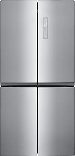 Frigidaire 17.4 Cu. Ft. 4 Door Refrigerator in Brushed Steel with Adjustable Freezer Storage