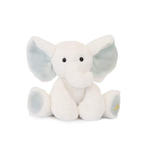 TCBunny Baby Elephant Bedtime Stuffed Animal Plush Toy Gift 11', Kids, Amy (White)