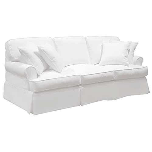 Sunset Trading SU-117600SC-423080 Horizon Sofa - Slip Cover Set Only - Warm White