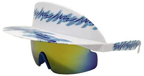 Funny Guy Mugs Polarized Visor Sunglasses - Jazzed - Premium 80s & 90s Retro Sunglasses