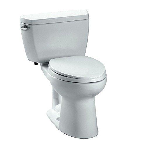 TOTO CST744EL#01 Eco Drake Two-Piece Elongated 1.28 GPF ADA Compliant Toilet, Cotton White