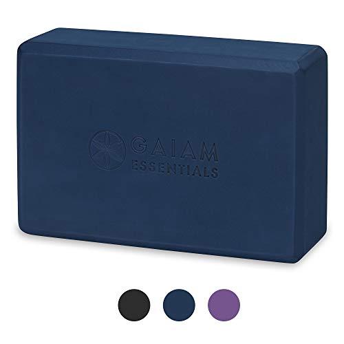 Gaiam Essentials Yoga Brick   Sold as Single Block   EVA Foam Block Accessories for Yoga, Meditation, Pilates, Stretching (Navy)