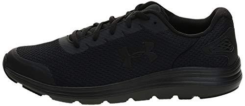 Under Armour Men's Surge 2 Running Shoe, Black (002)/Black, 12