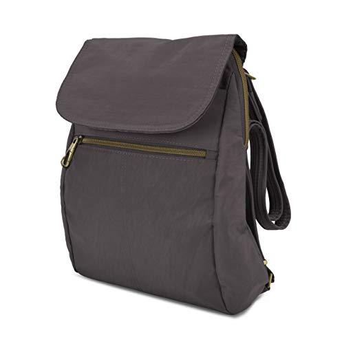 Travelon Women's Anti-Theft Signature Slim Backpack, Smoke, One Size