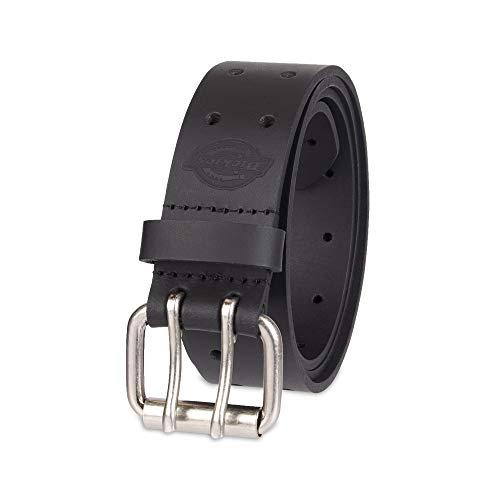 Dickies Men's Leather Double Prong Belt, Black, 38 (Waist: 36)