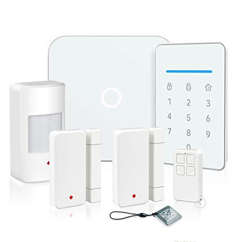 LarmTek Smart Wi-Fi Alarm System with, Alarm Host, Motion Sensor and Remote Smart Phone Control, IP Camera(Optional,Wireless LAN Wi-Fi GSM Cellular Home Security System Kit with Easy DIY Setup, AK1-W