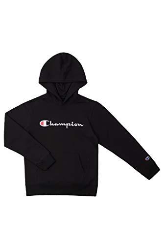 Champion Kids Clothes Sweatshirts Youth Heritage Fleece Pull On Hoody Sweatshirt with Hood (Large, Heritage Black)