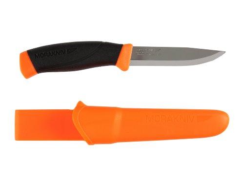 Morakniv Companion Fixed Blade Outdoor Knife with Sandvik Stainless Steel Blade, 4.1-Inch, Orange