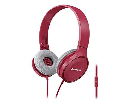 PANASONIC Lightweight Headphone with Mic - On-Ear Headphones (Pink)