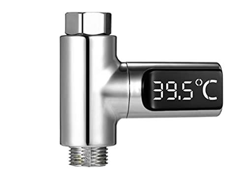 MICHELLE N LOGAN LED Display Shower Thermometer, LED Shower Thermometer Self-powered Baby Pet Shower Thermometer Water Temperature Meter