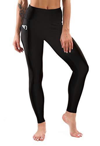 Sweetaluna Fleece Lined Leggings for Women,High Waist Yoga Pants Workout Leggings,Winter Running Tights Black (Black, Large)