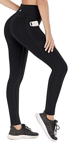 Heathyoga Leggings with Pockets for Women High Waisted Yoga Pants for Women with Pockets Workout Leggings for Women Black