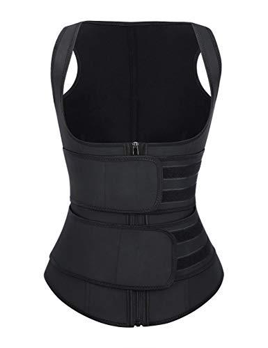 FeelinGirl Body Tummy Shaper Slimming Latex Waist Trimmer Corset Vest M