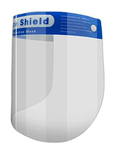 MAGID Reusable Clear Anti Fog Safety Face Shields - 5 Full Face Shields - Adult Face Shield with Soft Sponge Padding & Elastic Headband (5 Pre-Assembled Shields)