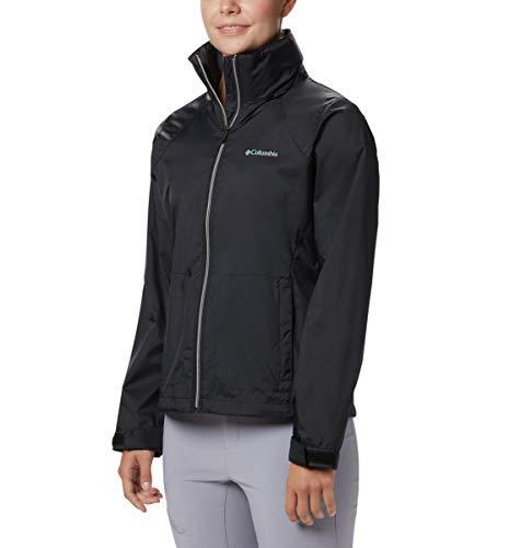 Columbia Women's Switchback III Adjustable Waterproof Rain Jacket, Black, Small