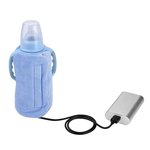 USB Milk Bottle Warm Heat Keeper Baby Milk Water Drink Warm Keeper Multifunction Coffee Tea Mug Beverage Warming Bag (Blue)