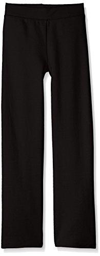 Hanes girls Comfortsoft Ecosmart Open Bottom Fleece Sweatpant, Black, XL