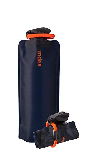 Vapur Eclipse Flexible Water Bottle - with Carabiner, 1 Liter (33 oz) - Night Blue