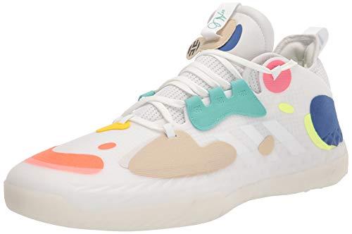 adidas unisex adult Harden Volume 5 Basketball Shoe, Crystal White/White/Team Royal Blue, 11 Women Men US