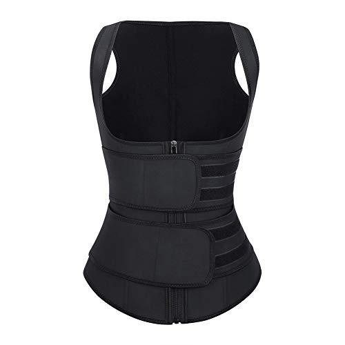 FeelinGirl Clip&Zip Body Tummy Shaper Slimming Latex Waist Trimmer Corset Vest M