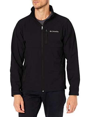 Columbia Men's Ascender Softshell Front-Zip Jacket, Black, Large