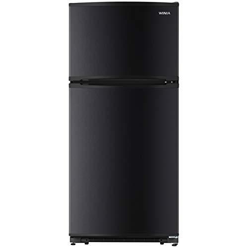WINIA WTE18HSBCD 18 Cu. Ft. Top Mount Refrigerator Ice Maker Ready - Black