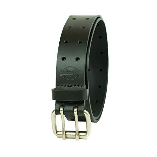 Dickies Men's Big & Tall Leather Double Prong Belt, Black, 3X (Waist: 48)