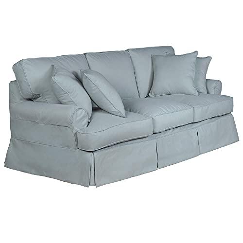 Sunset Trading Horizon Sofa Slipcover, Configurable, Aqua Blue