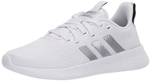 adidas Women's Puremotion Running Shoe, White/Silver/Grey, 7.5