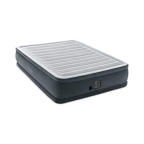 Intex Dura-Beam 18-Inch Fiber-Tech Elevated Premium Plush Comfort Inflatable Raised Airbed Mattress