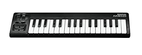 MIDIPLUS AKM320 USB MIDI Keyboard Controller, Black, 32-key