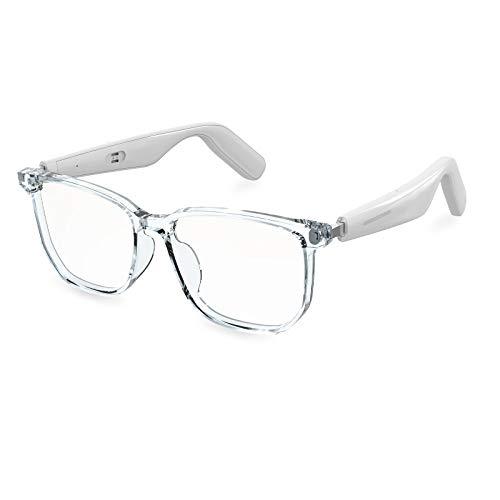 WGP Frames - Smart Bluetooth Audio Glasses (2nd Gen) Blue Light Lens with Open Ear Speaker_White