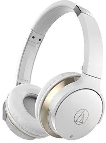 Audio-Technica ATH-AR3BTBK SonicFuel Bluetooth Wireless On-Ear Headphones with Mic & Control, White