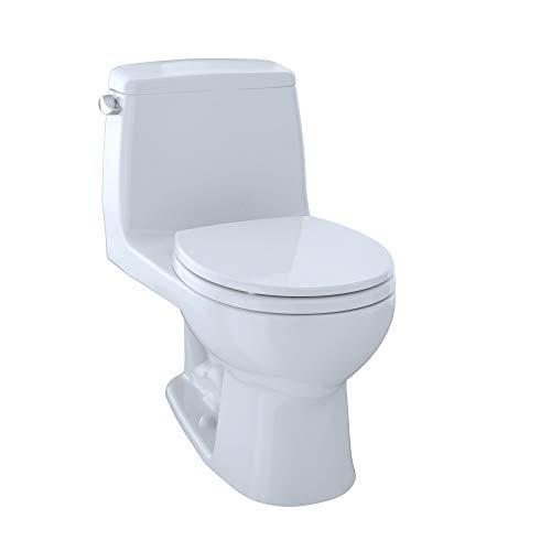 TOTO MS853113E#01 Eco Ultramax Round Front One Piece Toilet, Cotton White