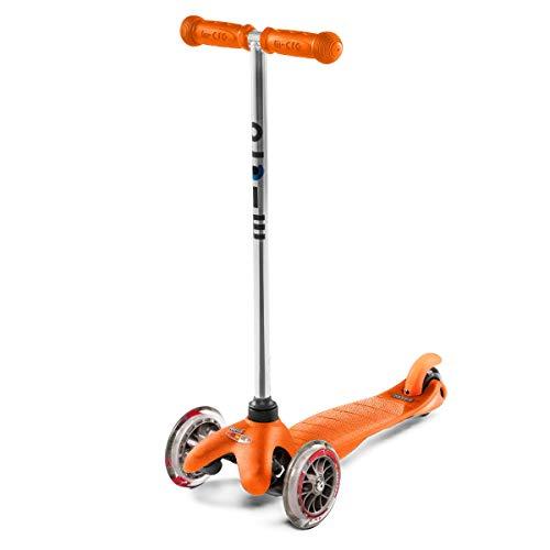 Micro Mini Original 3-Wheeled, Lean-to-Steer, Swiss-Designed Micro Scooter for Preschool Kids, Ages 2-5 - Orange