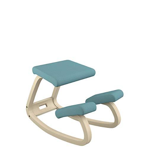 Varier Variable Balans Original Kneeling Chair Designed by Peter Opsvik (Turquoise Revive Fabric with Natural Ash Base)