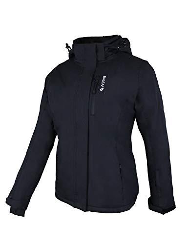 Baleaf Womens Insulated Ski jackets Waterproof Detachable Hood Windproof Mountain Winter Snow Jacket Black Size L