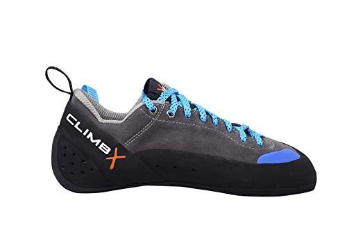 Climb X Crush Lace - Gray - 2020 Rock Climbing/Bouldering Shoe (Gray, Numeric_10_Point_5)