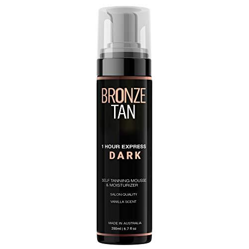 Bronze Tan Dark Self Tanner and Self Tanning Mousse For Fair to Medium Skin Tones Salon Quality Vanilla Scented (200 ml/ 6.7 oz)