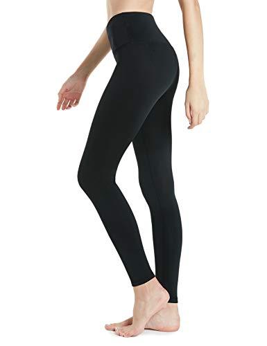 TSLA Women's Thermal Wintergear Compression Baselayer Yoga Pants Leggings Tights, Wintergear Yoga Pants(xyp82) - Black, Small (Size 6-8_Hip37-39 Inch)