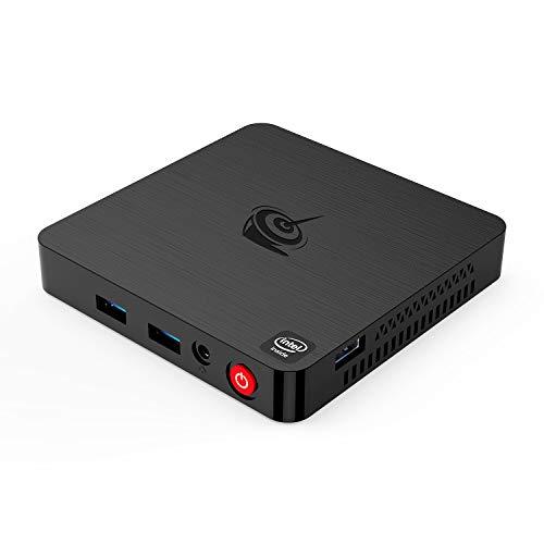 Mini PC T4 Intel Atom x5-Z8500(up to 2.24GHz) Desktop Computer,Windows 10,4G DDR3/64G EMMC Ultra-Thin Mini Computer,4K HD,2.4G/5G Dual WiFi,BT4.0,HDMI/DP Dual Display Output,Gigabit Ethernet