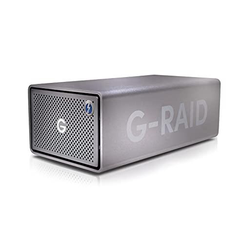 SanDisk Professional 8TB G-RAID 2 - Enterprise-Class 2-Bay Desktop Drive, 7200RPM Ultrastar Drive Inside, Thunderbolt 3, USB-C, HDMI Port, Hardware RAID - SDPH62H-008T-NBAAD