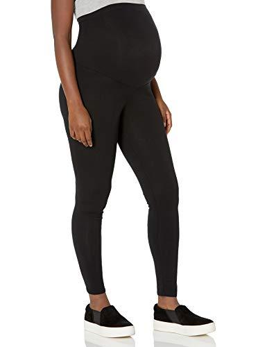 Motherhood Maternity Women's Maternity Essential Stretch Full Length Secret Fit Belly Leggings, Black, Medium