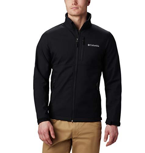 Columbia Men's Ascender Softshell Jacket, Water & Wind Resistant, Black, Medium