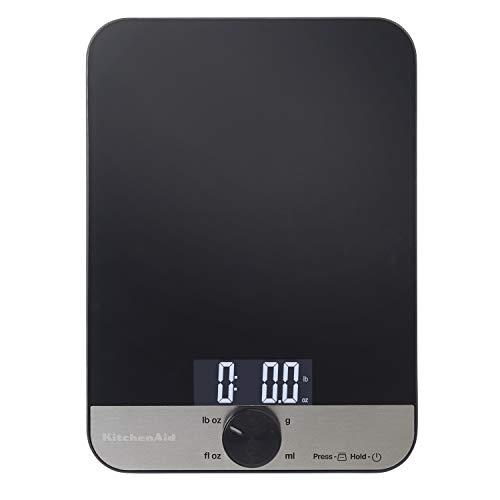 KitchenAid KQ908 Glass 11 Pound Digital Top Kitchen Scale, One