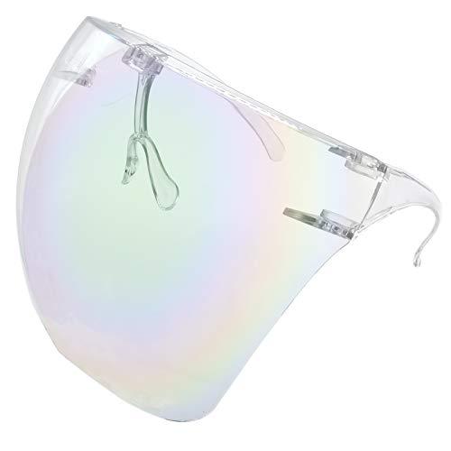 Protective Goggle Sunglasses Visor Face Cover Glasse UV 400 Protection Daily Glasses Protective Eyewear Transparent/Mirror