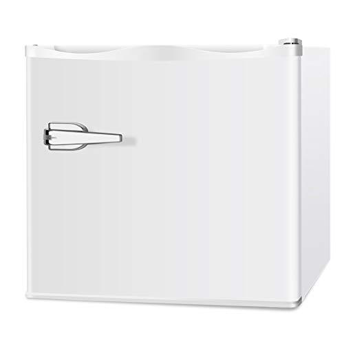 LHRIVER 1.2 cu ft Portable Upright Freezer - Compact Reversible Stainless Steel Single Door, Mini Refrigerator Freezer Machine Food for Dorm