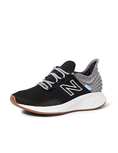 New Balance Women's Fresh Foam Roav V1 Running Shoe Sneaker, Black/Light Aluminum, 8