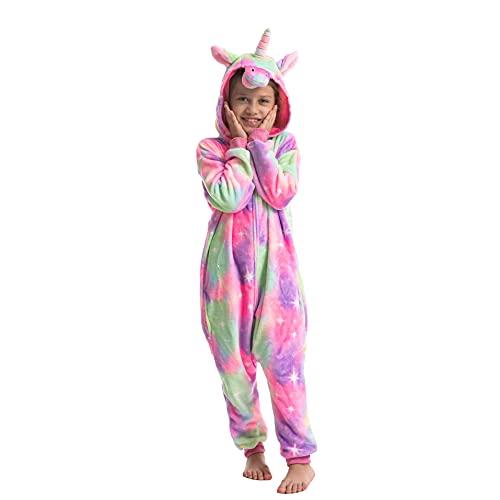 Child Unisex Unicorn Pajamas Onesie Dress Up (S)